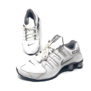Nike Shox White Leather Running Shoes 488312-108